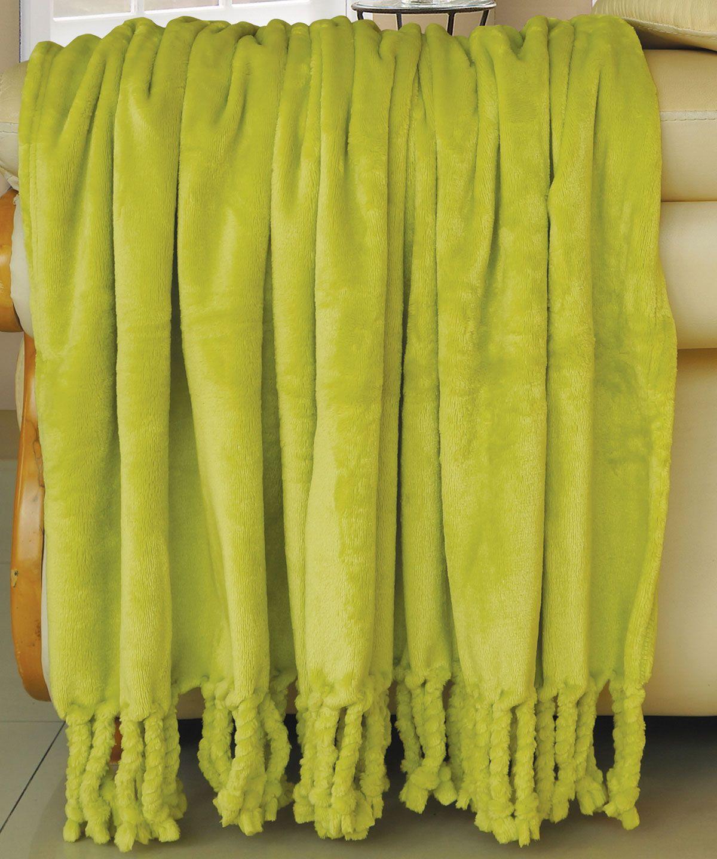 Flannel fleece blanket  ROPE BRAIDED FLANNEL FLEECE THROWS OASISGREEN THROW BRAIDED