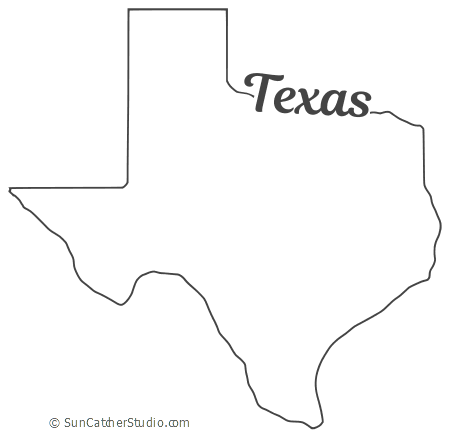 Texas  Map Outline, Printable State, Shape, Stencil, Pattern is part of Texas map, Texas outline, Map outline, Texas image, Texas shaped, Stencils - Texas map state outline, shape, stencil  Use this printable pattern for crafts, gifts, woodworking projects, etc  View our FREE