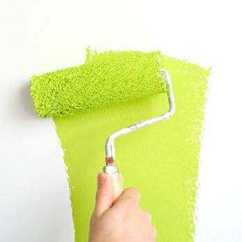 lime green paint <3 - this is the color i want in the laundry/mud