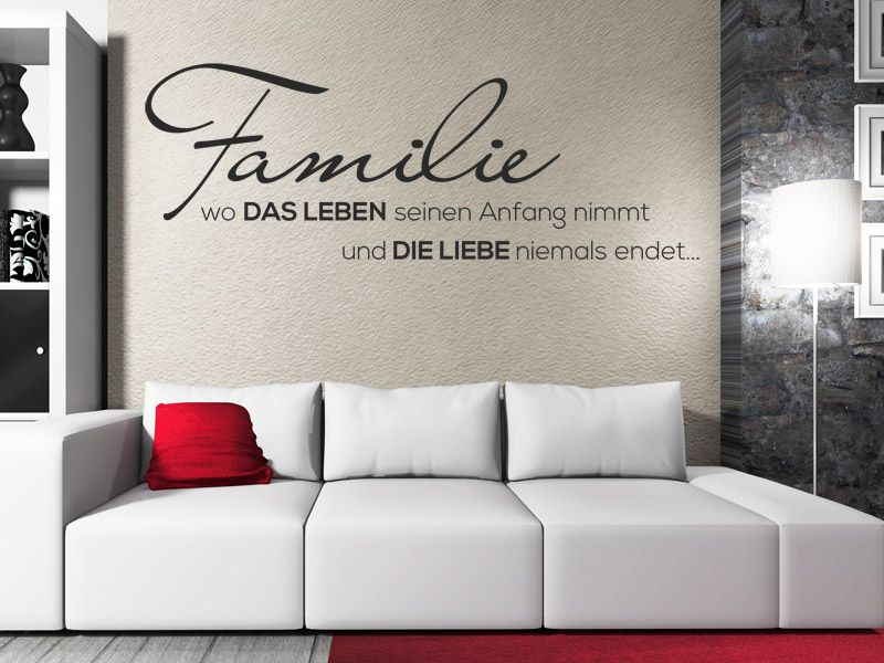 wandtattoo familienleben spruch im wohnzimmer spr che pinterest. Black Bedroom Furniture Sets. Home Design Ideas