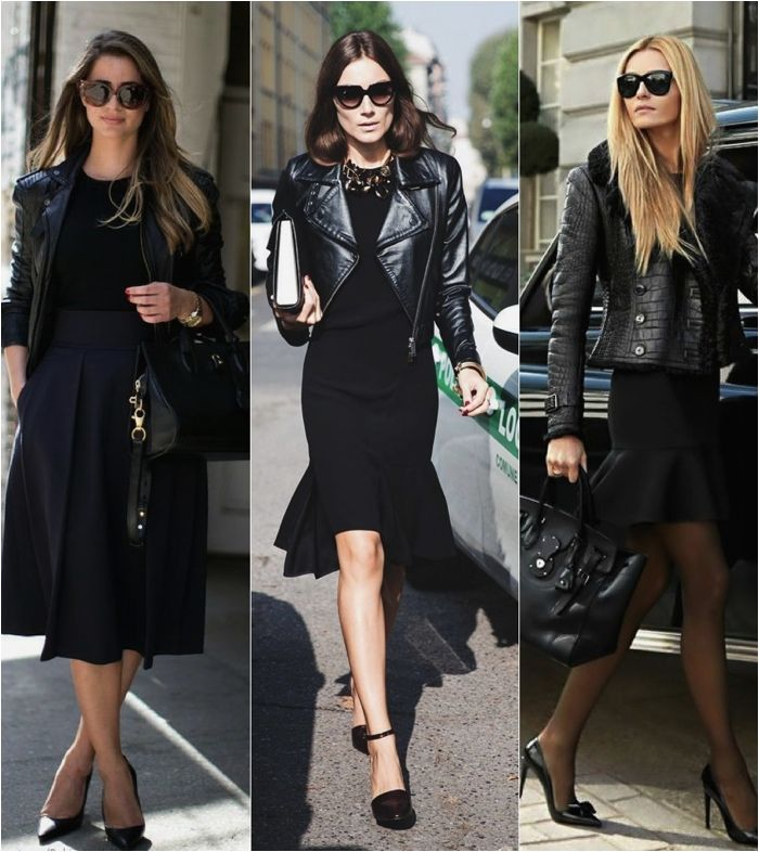 To Pair Leather Jacket With Skirt Fashionably, Copy This Style