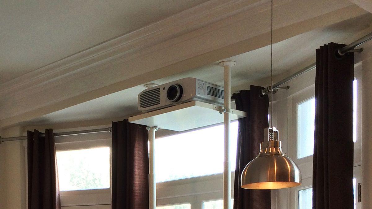 Hack An IKEA Stolman Shelf Into A Sturdy Projector Ceiling