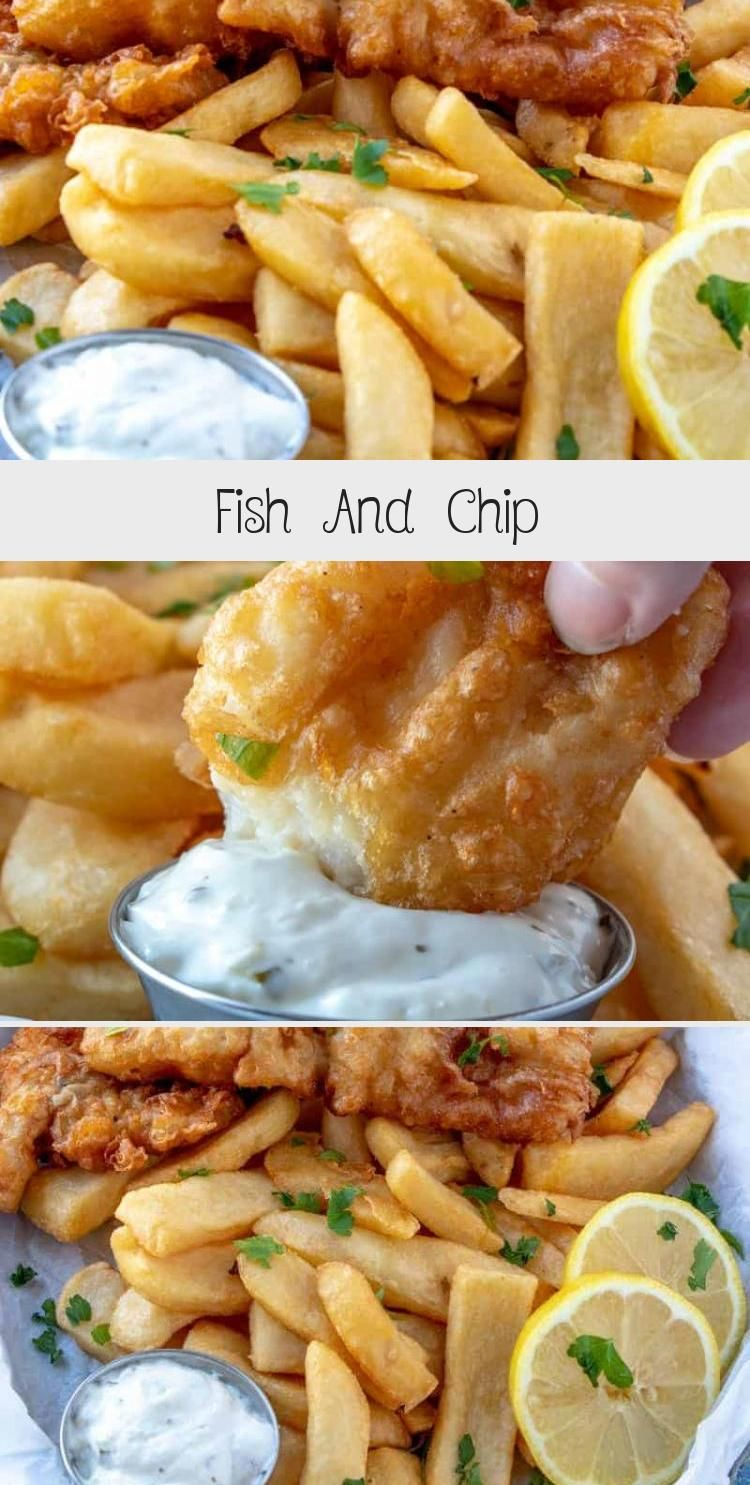 Quick and easy these Fish and Chips are battered in a