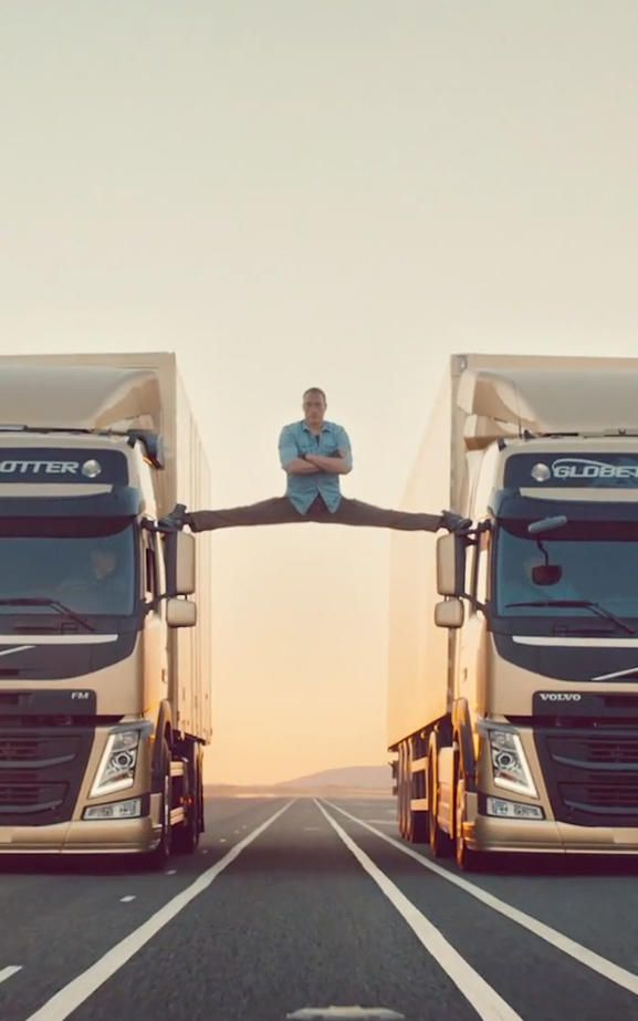 Jean-Claude Van Damme Does The Splits Between Two Volvo Trucks And