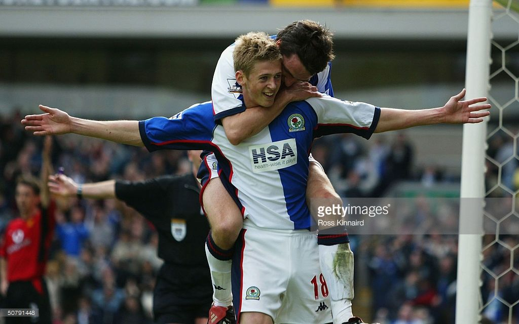 Jonathan Stead of Blackburn Rovers celebrates scoring