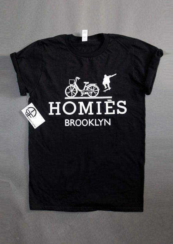 f544f34cc Homies Brooklyn inspired logo parody Unisex T-shirts, Cycling ...