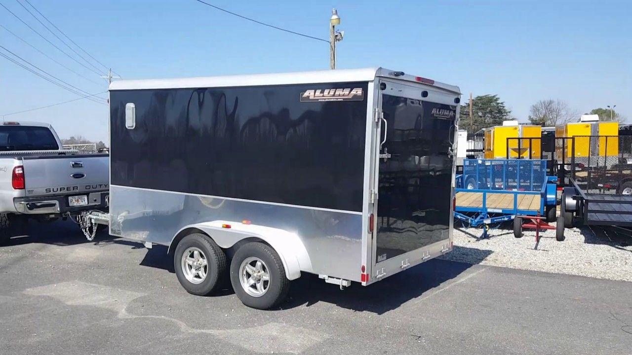 Smart car loading on an aluma 7x12 enclosed trailer