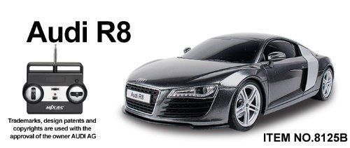 New 1:20 AUDI R8 Radio Remote Control Car RC 27MHZ Frequency Black READY TO RUN! #MJX