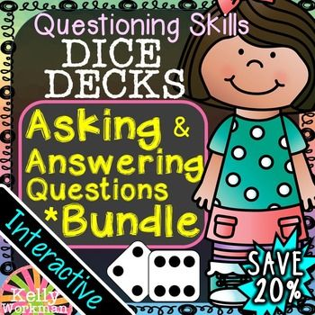 These interactive task cards will give your students lots of practice learning how to ask and answer questions! This bundle includes 4 DICE DECKS sets, and is a great value at 20% off!