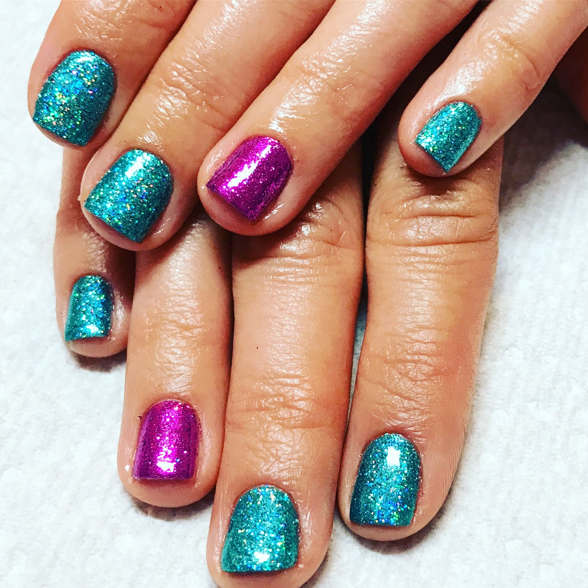 Mermaid Glitter Aqua Glitter Purple Glitter Rockstar Nails Glitter Nails Gel Nails Summer Nails Short Aqua Nails Glitter Gel Nails Nail Designs Glitter