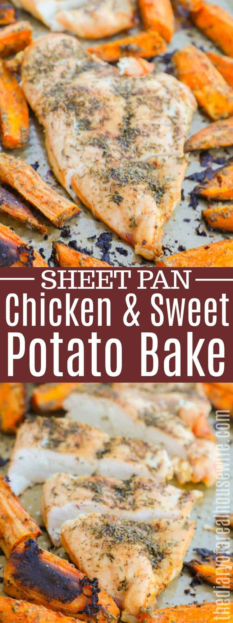 One Pan Chicken and Sweet Potato Bake #onepanchicken
