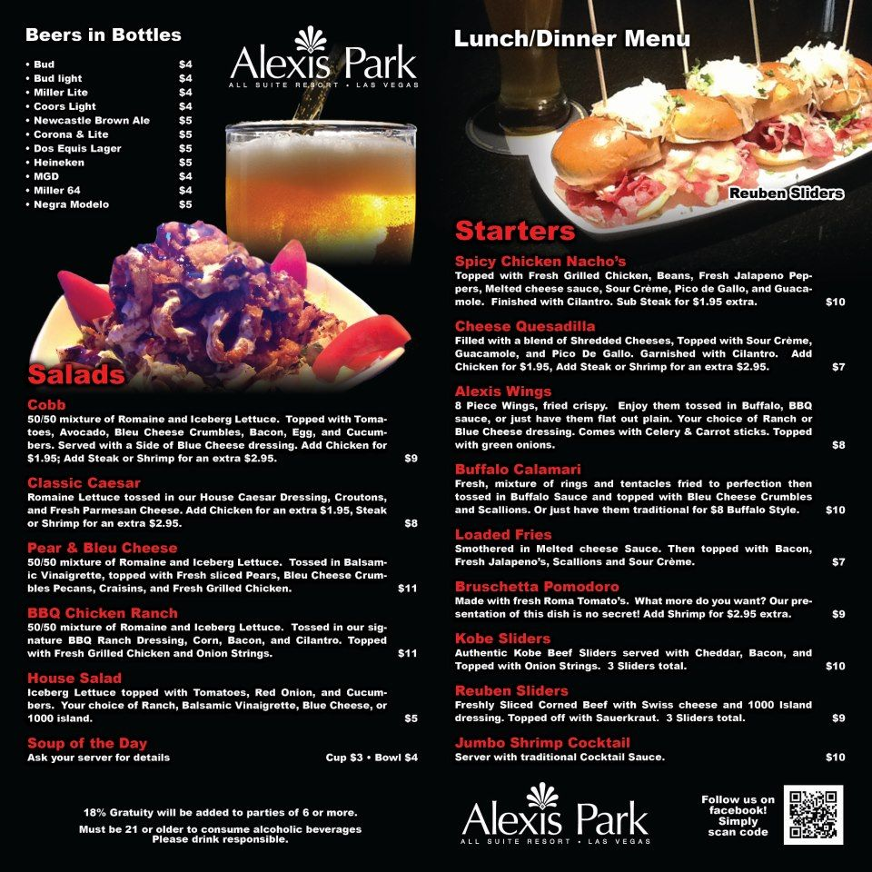 Menu Design For Alexis Park Las Vegas Menu Restaurant Dinner Menu Melted Cheese