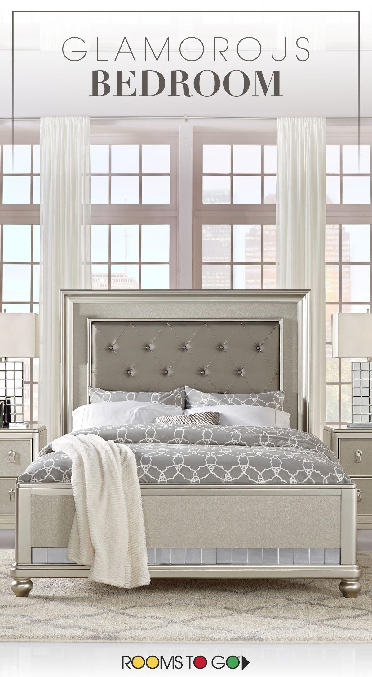 13 Elegant Ideas How To Craft Glamorous Bedroom Furniture Rooms To Go Bedroom Glamourous Bedroom King Bedroom Sets