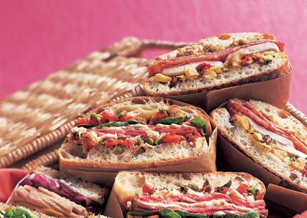 Artichoke Fresh Mozzarella and Salami Sandwiches
