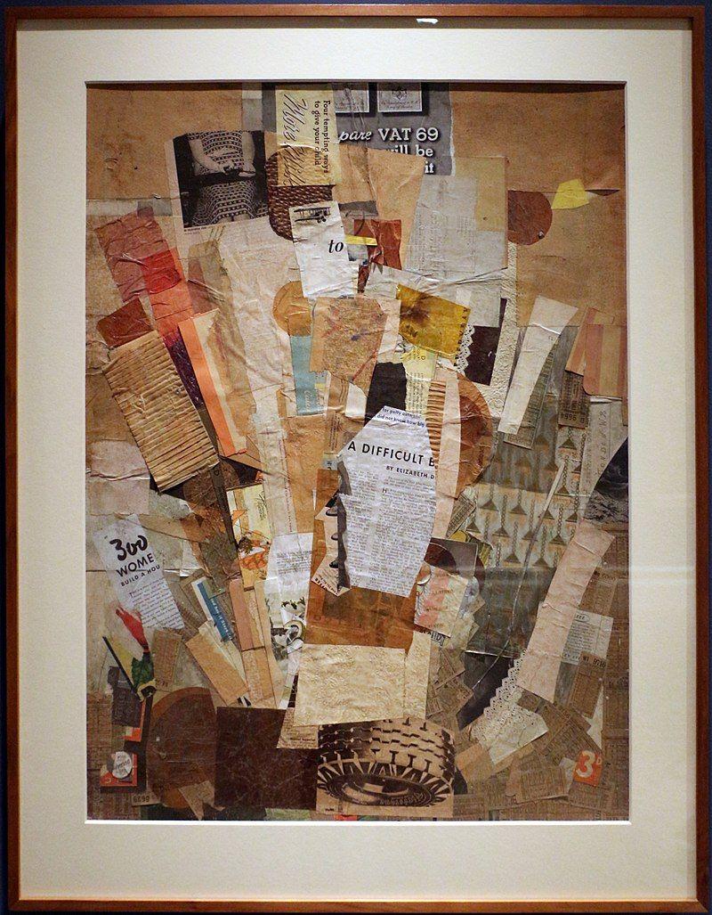 Kurt Schwitters Difficile 1942 43 Collage Kurt Schwitters Wikipedia Kurt Schwitters Artwork Art