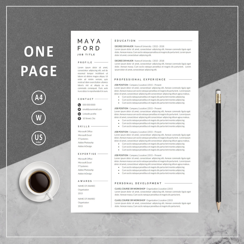 1 page resume resume template one page resume professional 1 page resume resume template one page resume professional resume modern resume yelopaper Choice Image