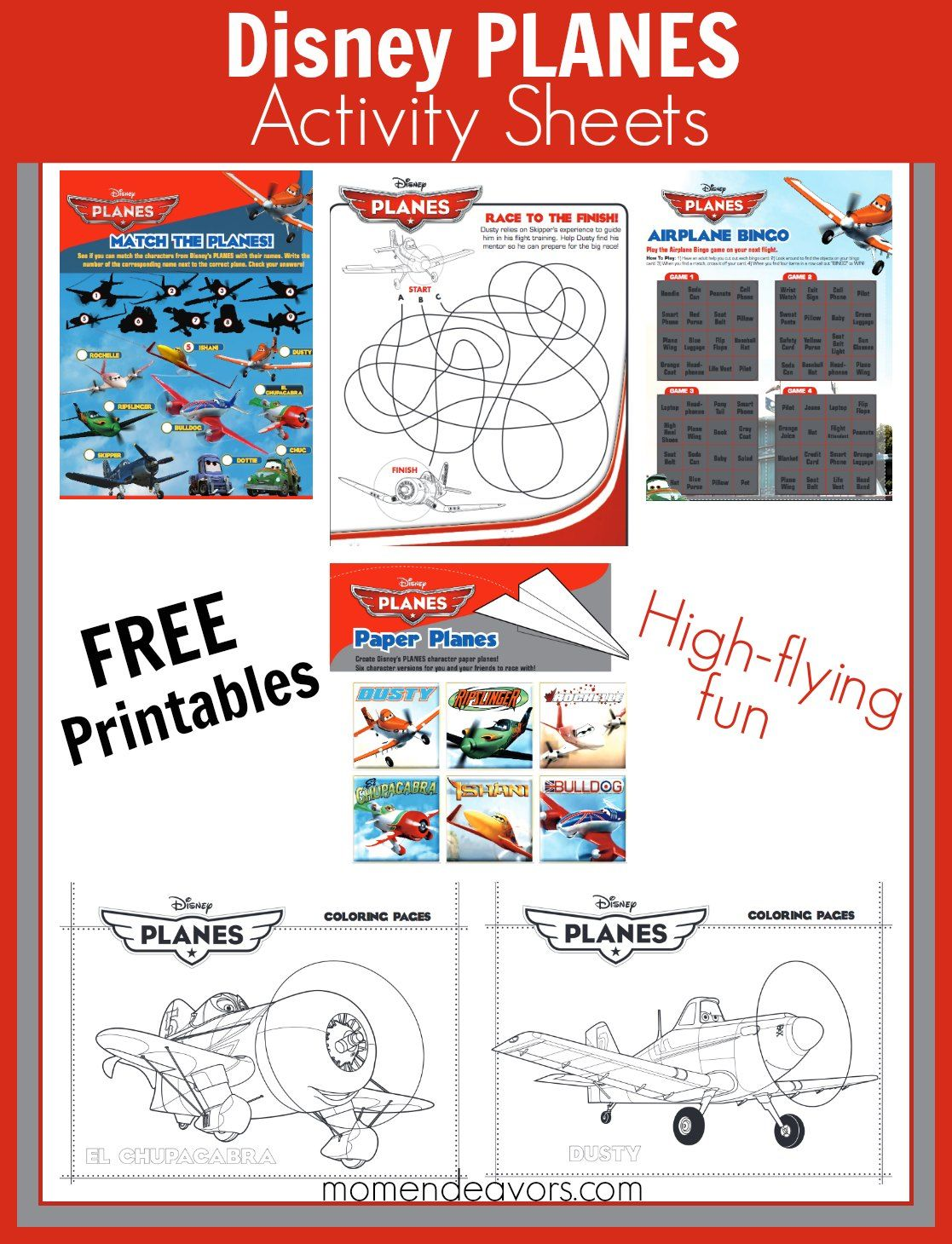 FREE printable Disney Planes activity sheets and coloring ...