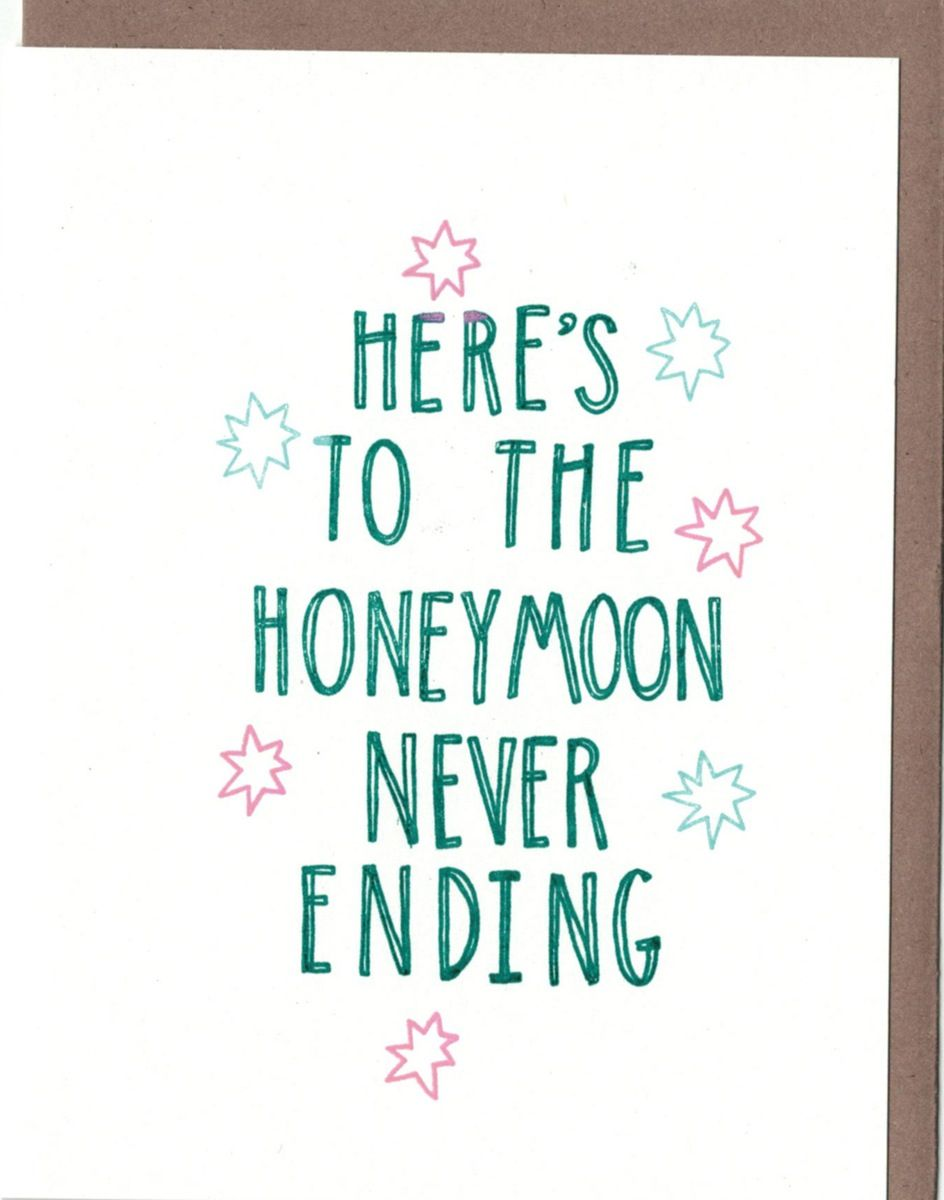 Honeymoon Wb14 A2 Size Folded Card With Blank Interior Comes