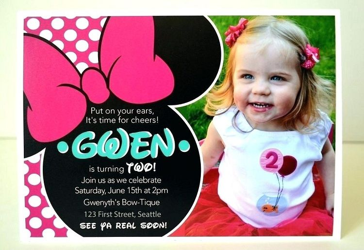 2nd Birthday Invitations Minnie