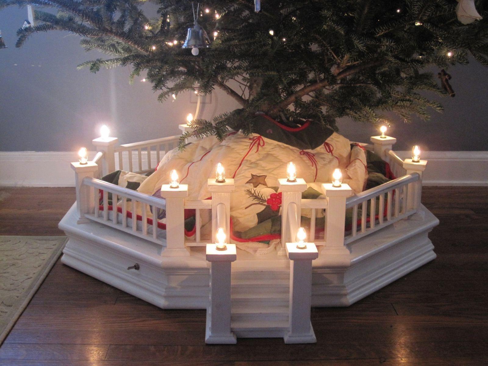 christmas tree fences indoors