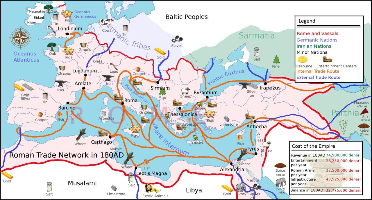 Roman Trade Routes In AD Map Prn Pinterest Roman - Ancient rome map byzantium