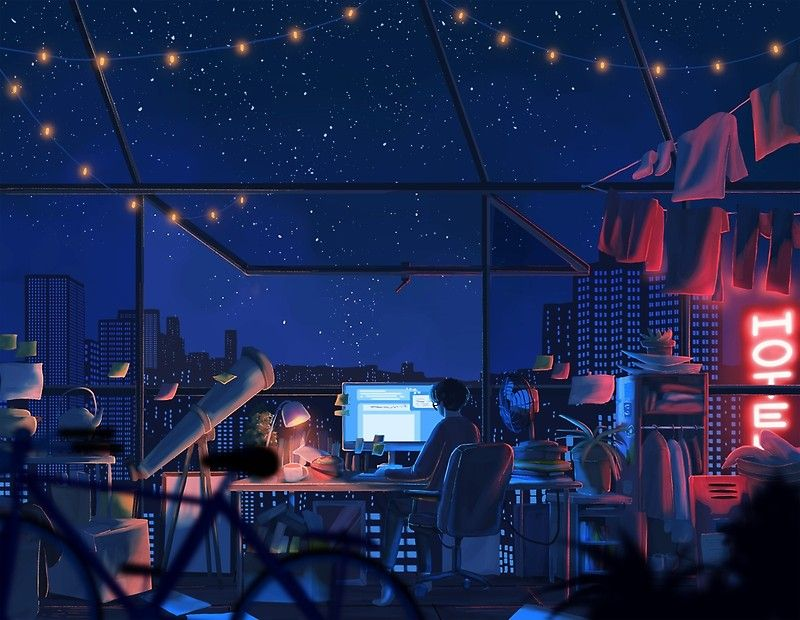 Impression Artistique Tu Es Toujours Debout Par Mienar Pixel Art Background Anime Scenery Aesthetic Art