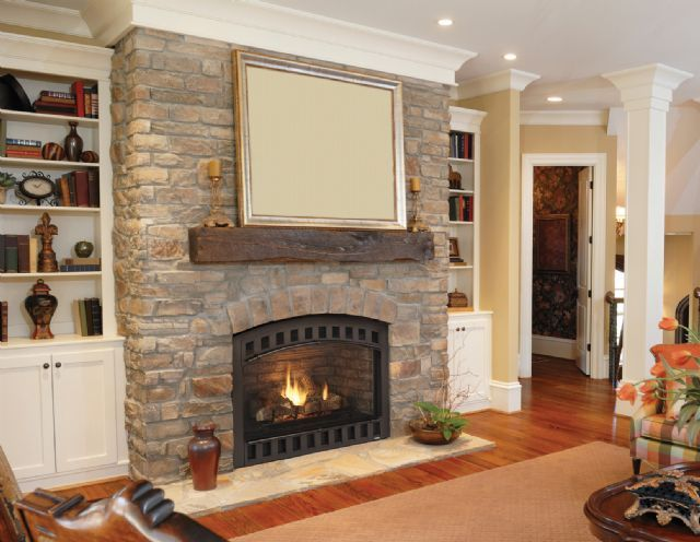 Wood burning fireplace vented heat southwest fireplace for Fireplaces southwest