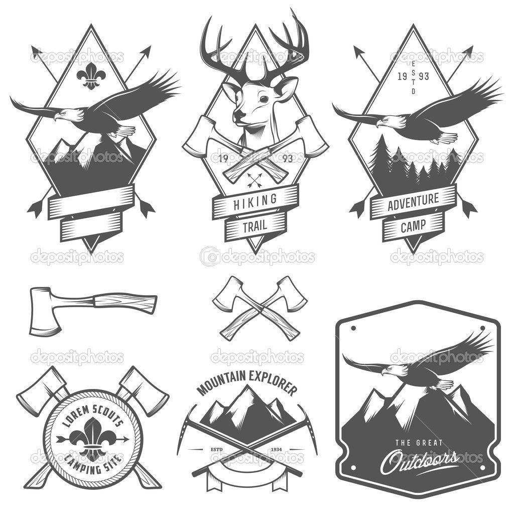 vintage campfire illustration - Google Search | Graphic ...