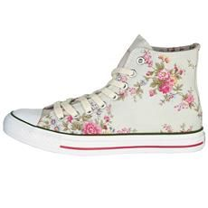 Cath Kidston - Washed Roses High Top Plimsolls - I need these!!