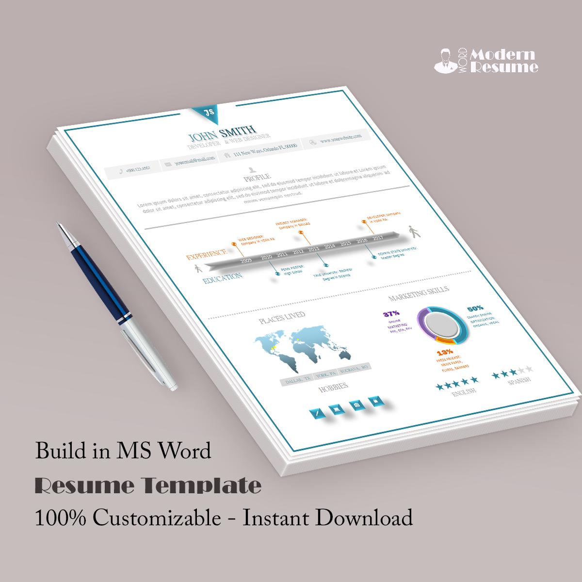 Path Resume Template 100% Customizable