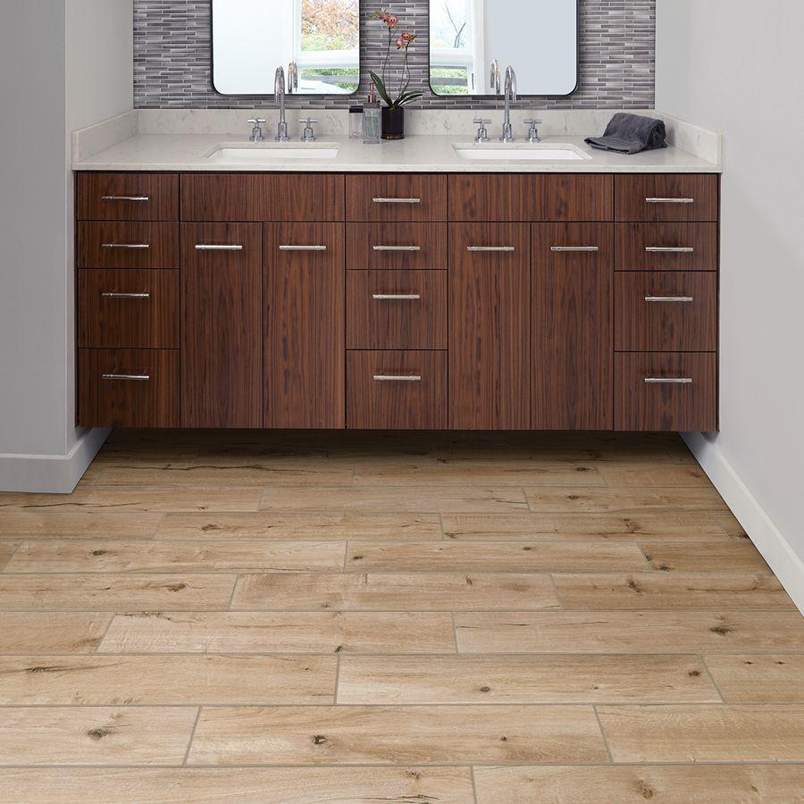Porcelain Wood Look Floor Tile Lowes Bathroom redesign
