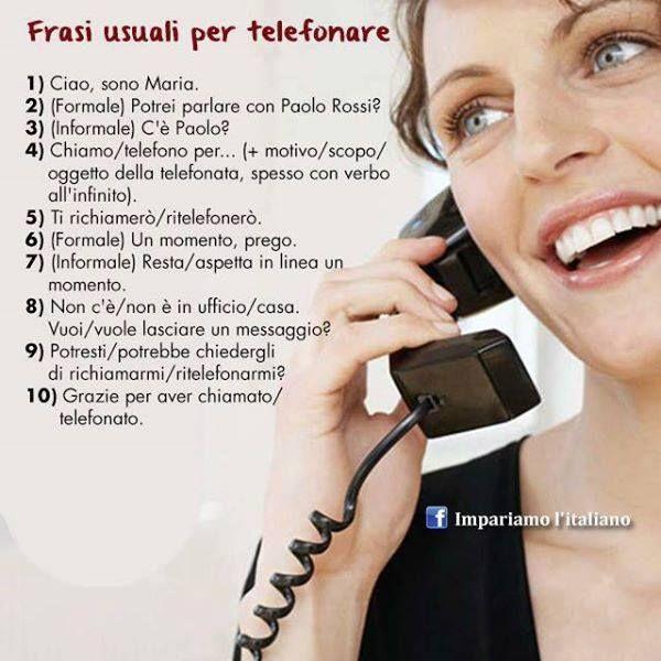 Pin By Mona Spachi Imparo On Al Telefono Italian Language Learn