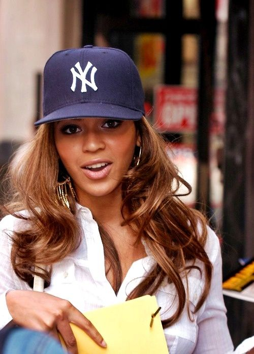 new products f2fac 02415 My girl Beyonce rocking my fav hat! GO YANKEES!
