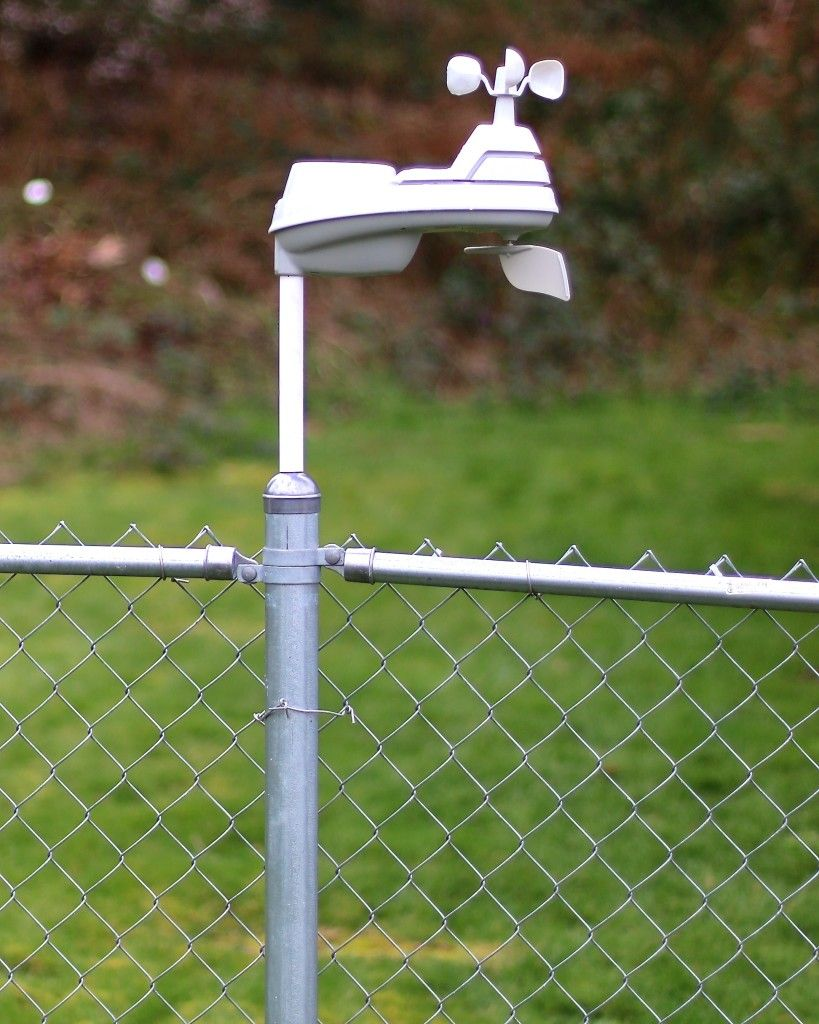 Acurite Sensor Mounted Using Transformafence A