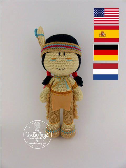Patrón de ganchillo de Cochise indio PDF | Amigurumi/juguetes ...