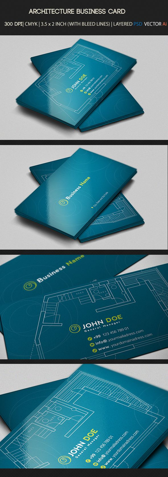 Architecture business card on behance blue inspire pinterest architecture business card on behance reheart Gallery