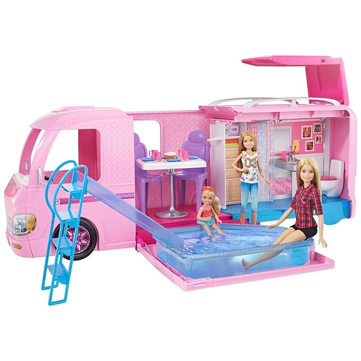 Barbie Dream Camper Playset Glamping Playset with Camping Accessories BRAND NE