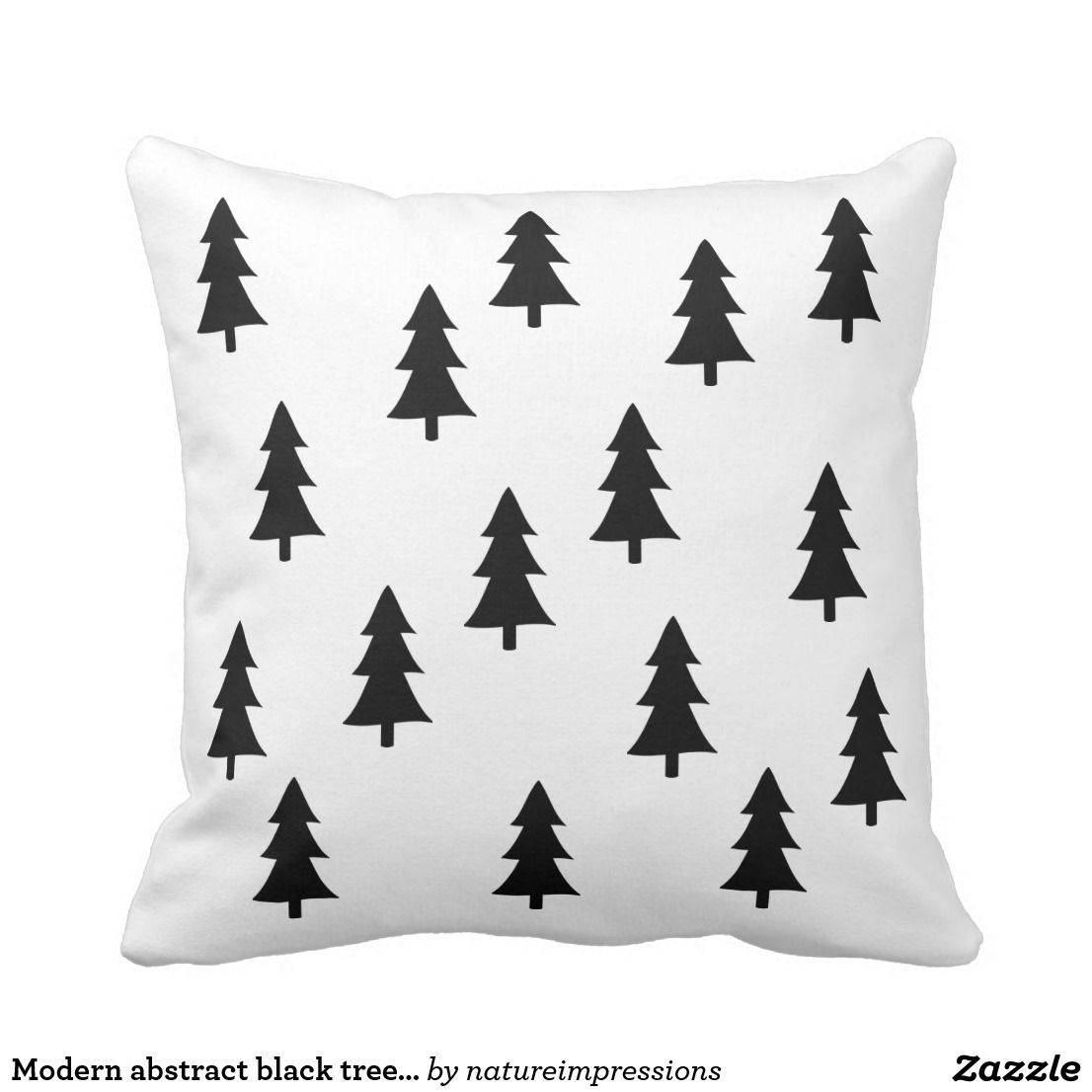 Modern Abstract Black Trees Scandinavian Style Throw Pillow Zazzle Com Throw Pillow Styling Burlap Throw Pillows Throw Pillows