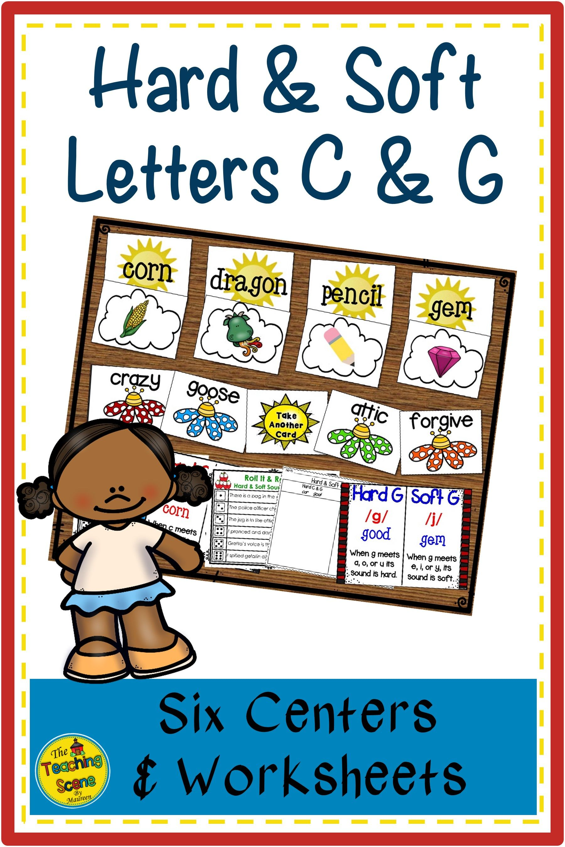 Hard And Soft Letters C Amp G Centers Amp Worksheets