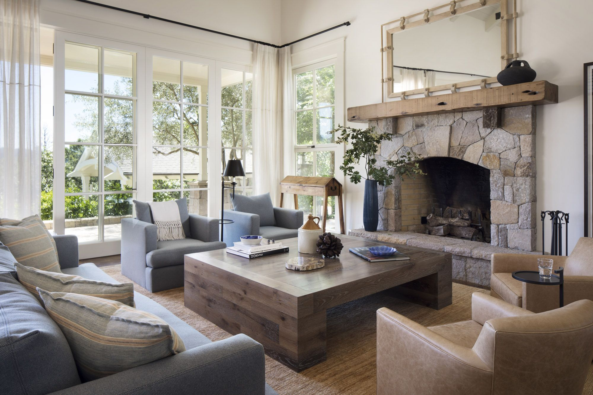 Loving This Super Cozy And Beautiful Living Room Jennifer Robin Interiors House And Home Magazine Farm House Living Room Trendy Living Rooms [ 1333 x 2000 Pixel ]