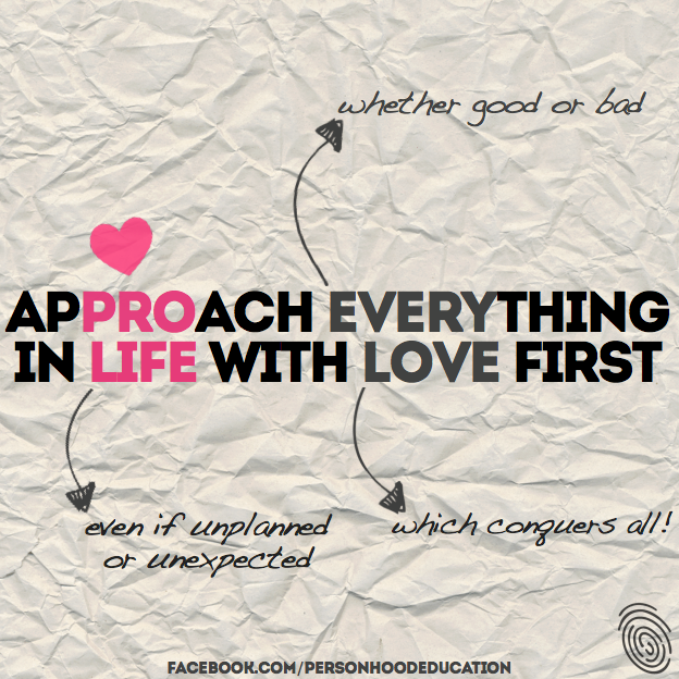 Approach everything in life with love first.lig