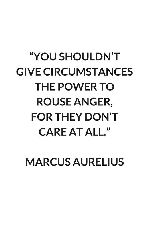 Philosophy Quotes Pleasing Marcus Aurelius On Anger  Stoic Philosophy Quote' Art Print
