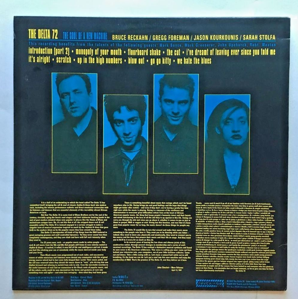 The Soul of a New Machine [LP] The Delta 72 (Vinyl, Aug-1997, Touch & Go…