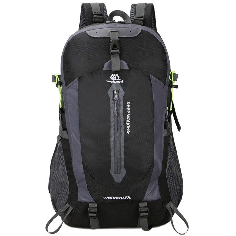 New Outdoor Sports Backpack 50l Mountaineering Bag Travel Backpack Hiking Campin Black 4085421212 Size 1pc In 2020 Hiking Backpack Backpacks Hiking