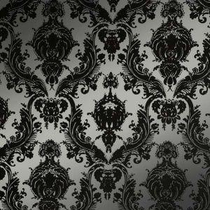 Tempaper Damsel Metallic Silver Wallpaper By Couture Deco Victorian Wallpaper Gothic Wallpaper Damask Wallpaper