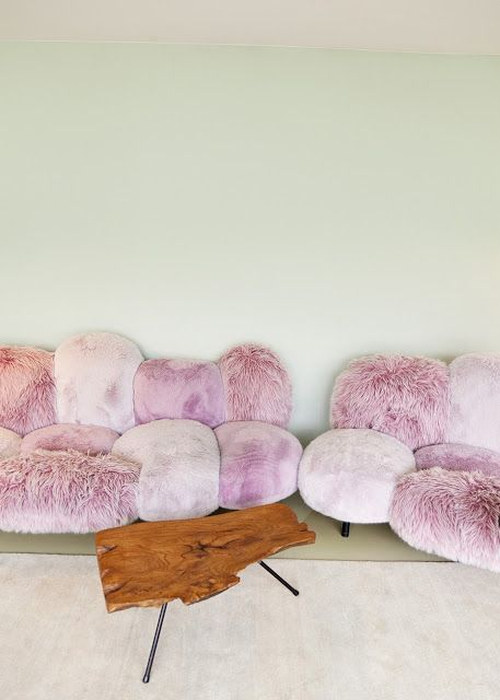 Berlin Based Artist Nina Pohlu0027s: Pink Fluffy Sofa