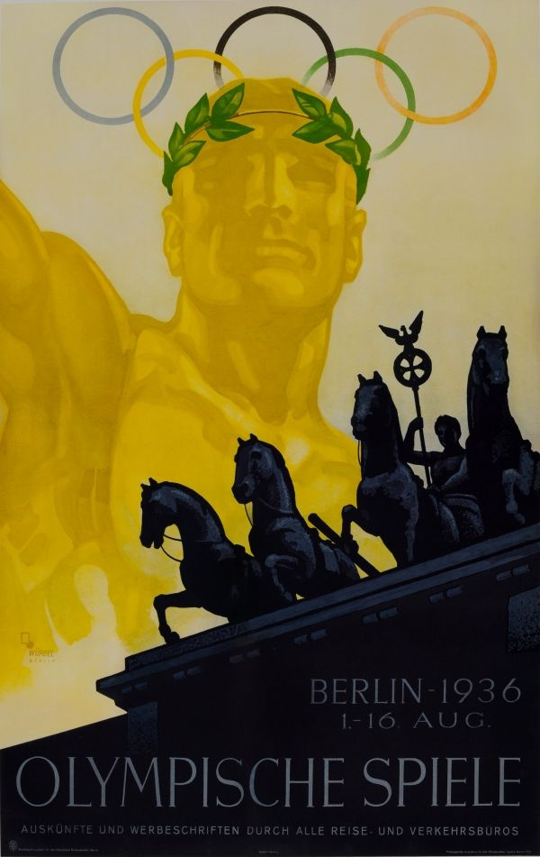 Original Vintage Posters Gt Sport Posters Gt Olympic Games Berlin 1936 Wurbel Antikbar Olympic Games Posters Art Prints Poster