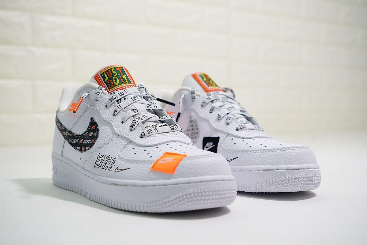 2018 Nike Air Force 1 07 Premium Just Do It White Cheap Price In 2020 Nike Air Force Nike Air Nike