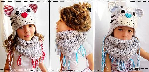 kocúriková шапка + теплый шарф