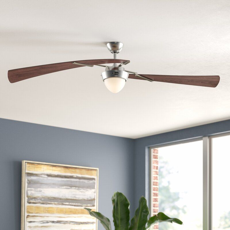 48 Harmony 2 Blade Propeller Ceiling Fan With Pull Chain And Light Kit Included In 2020 Ceiling Fan Modern Ceiling Fan Wood Ceiling Fans